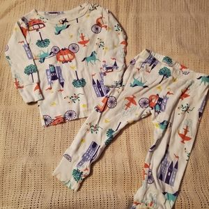 12m fairytale print cotton pajamas